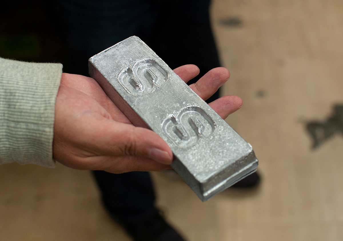 (写真13) | 築地活字で活字鋳造の現場を見学しました - 生田信一(ファーインク) | 活版印刷研究所