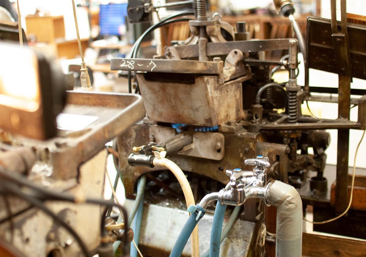 (写真15) | 築地活字で活字鋳造の現場を見学しました - 生田信一(ファーインク) | 活版印刷研究所