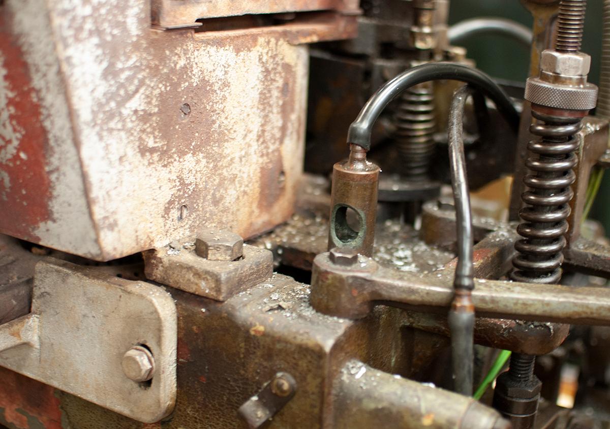(写真17) | 築地活字で活字鋳造の現場を見学しました - 生田信一(ファーインク) | 活版印刷研究所