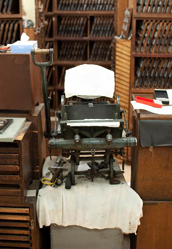 (写真33) | 築地活字で活字鋳造の現場を見学しました - 生田信一(ファーインク) | 活版印刷研究所