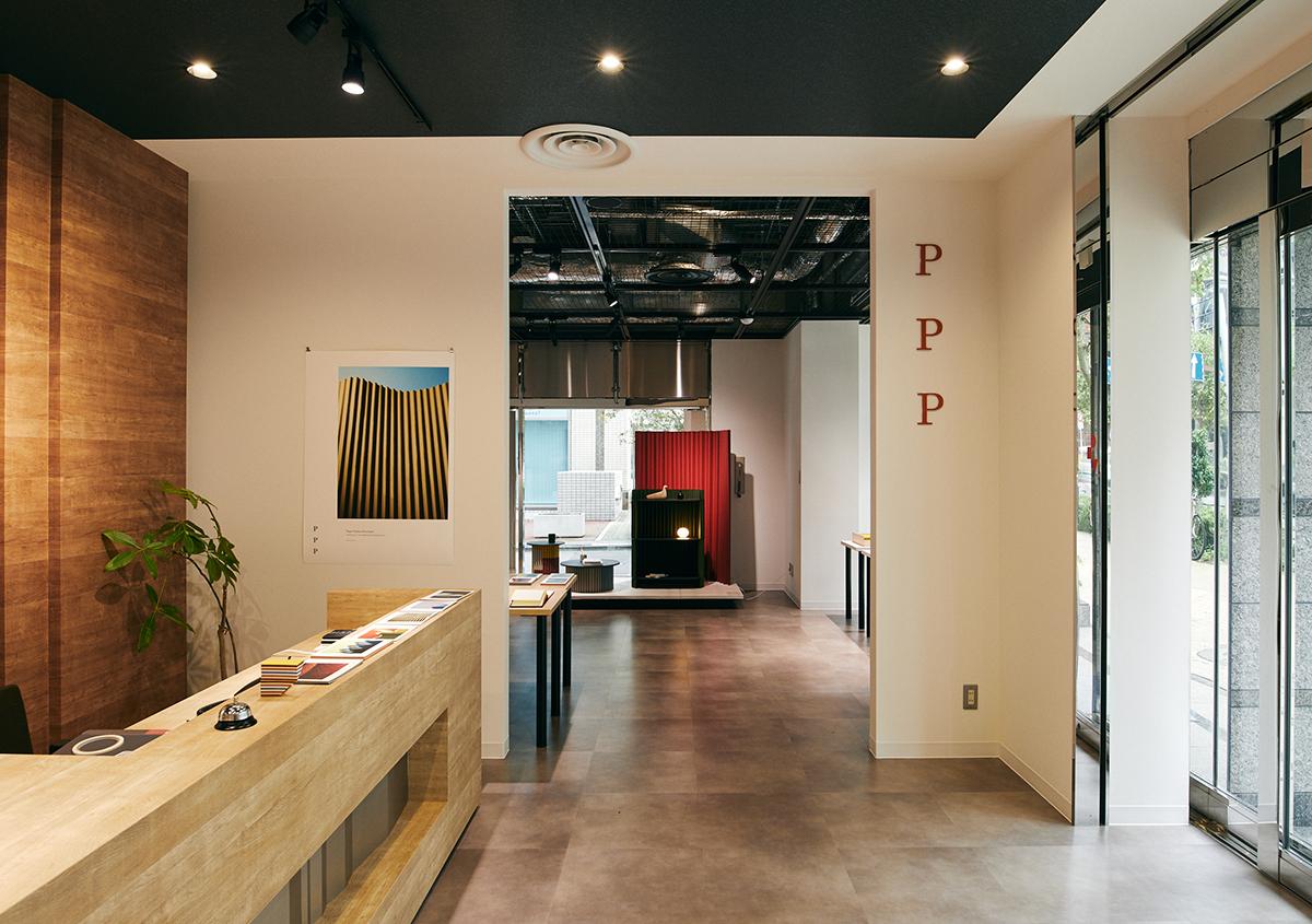 (写真4)「Paper Product Prototypes」展の入り口。「PPP」は「Paper Product Prototypes」の略。 | 平和紙業 ペーパーボイス東京がリニューアル、「PPP」展に行ってきました - 生田信一(ファーインク) | 活版印刷研究所
