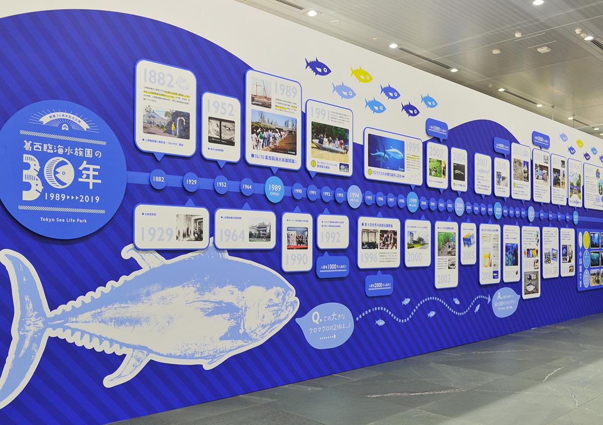 (写真34) | 葛西臨海水族園 開園30周年記念イベントで作られた 『特大!クロマグロ194mmシール』 - 生田信一(ファーインク) | 活版印刷研究所