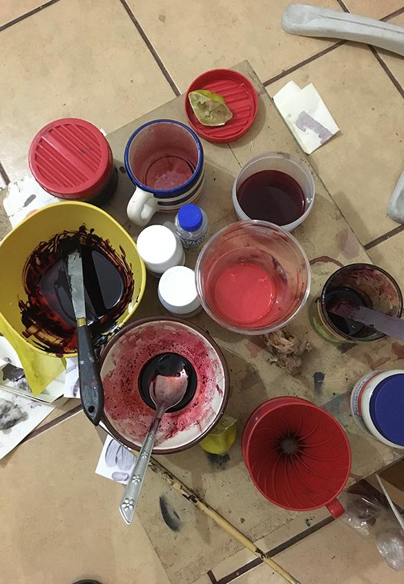 (写真9) | コチニージャをシルクスクリーンで刷りたい①、の巻き。 - あみりょうこ | 活版印刷研究所