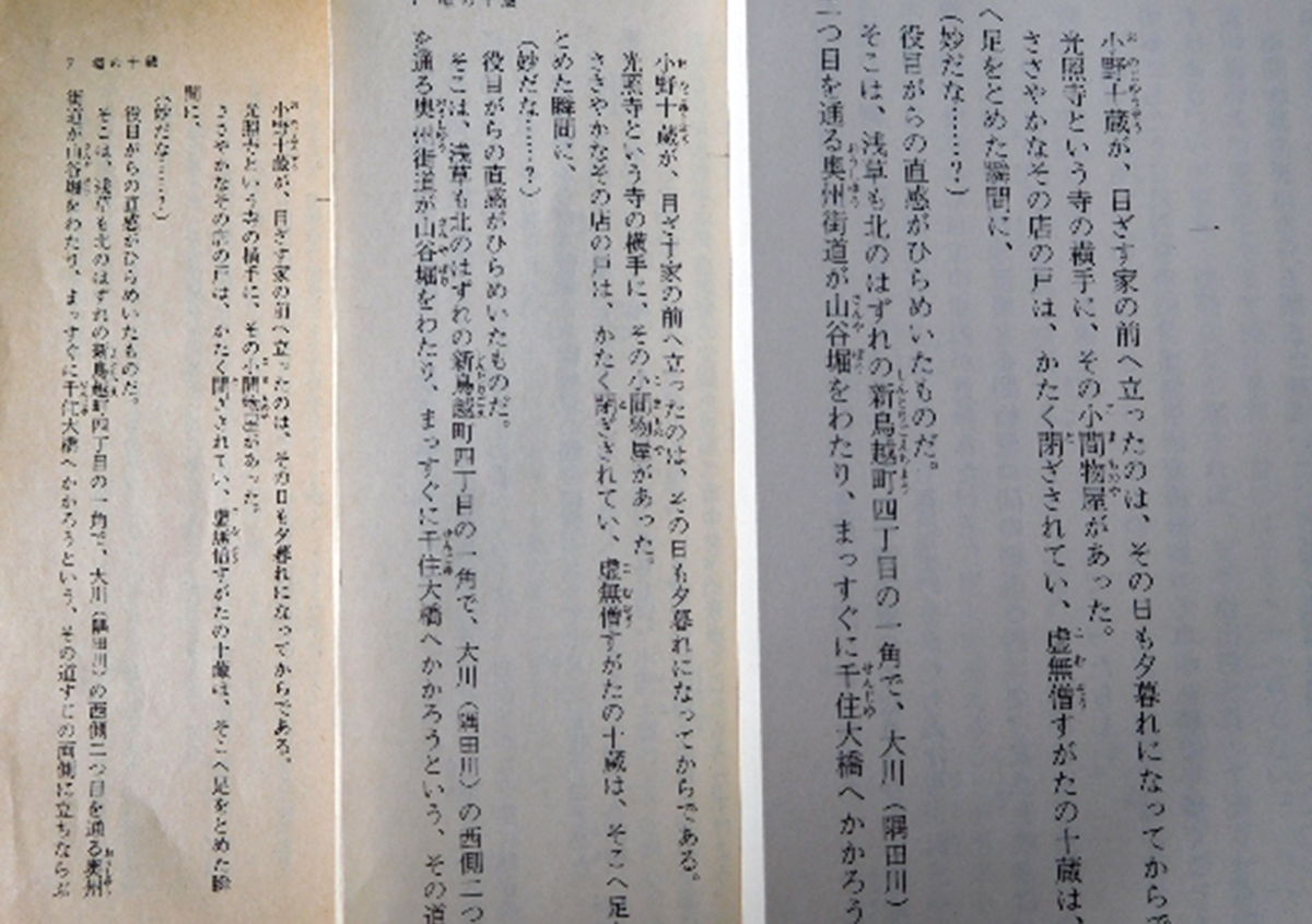 文庫本③ <文庫本のジレンマ>