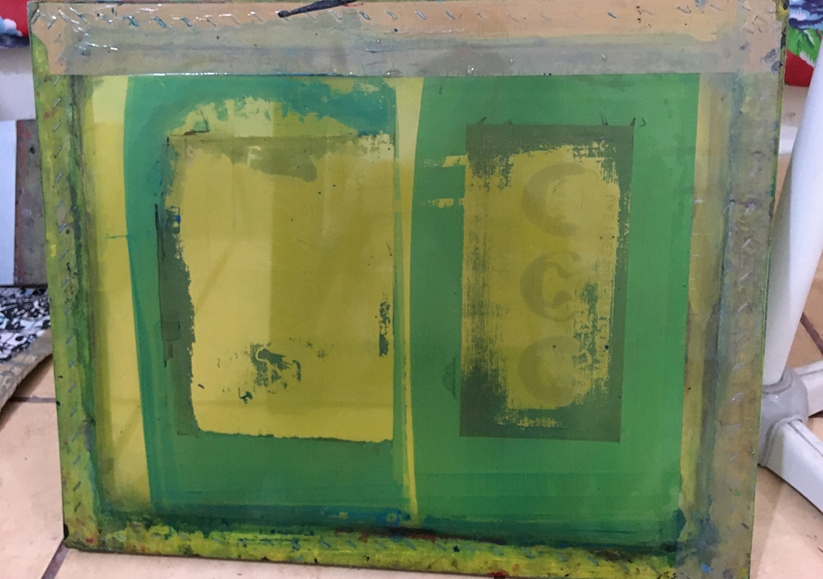 (写真10) | コチニージャをシルクスクリーンで刷りたい②、の巻き。 - あみりょうこ | 活版印刷研究所
