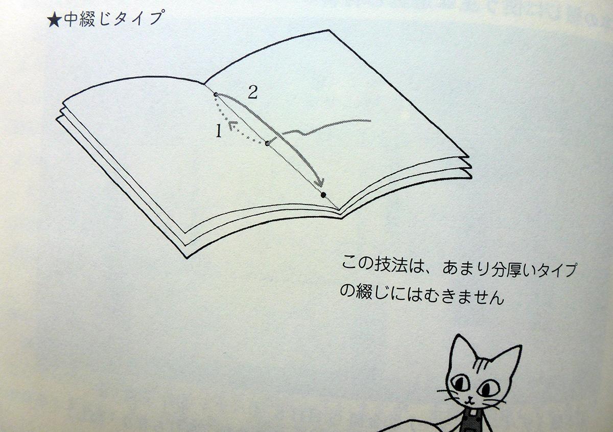 (写真1)綴じ『続図書の修理とらの巻』より | お家で簡単製本 - 京都大学図書館資料保存ワークショップ | 活版印刷研究所