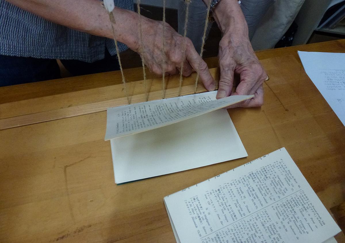 (写真3) | 「番外編」活動再開しました!! - 京都大学図書館資料保存ワークショップ | 活版印刷研究所