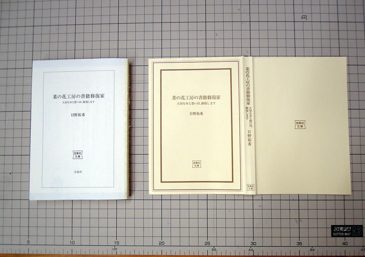 (写真1) | 文庫本の改装に挑戦!キットを使って。 - 京都大学図書館資料保存ワークショップ | 活版印刷研究所