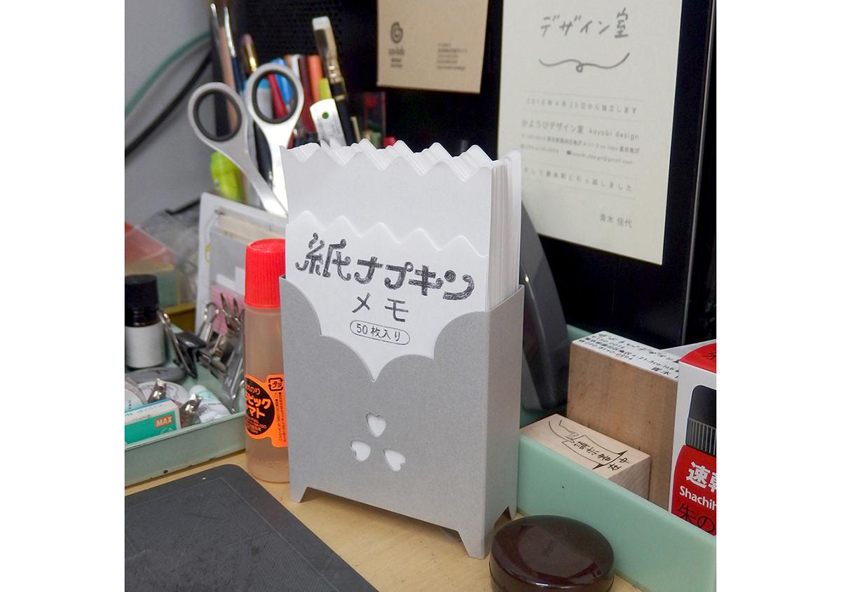 (写真1) | レトロでかわいい「紙ナプキンメモ」 が発売 - 生田信一(ファーインク) | 活版印刷研究所
