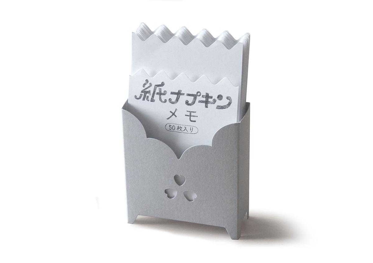 レトロでかわいい「紙ナプキンメモ」 が発売