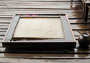 ミャンマーの紙漉