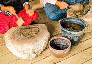 写真3 | ミャンマーの紙漉 - 白石奈都子 | 活版印刷研究所