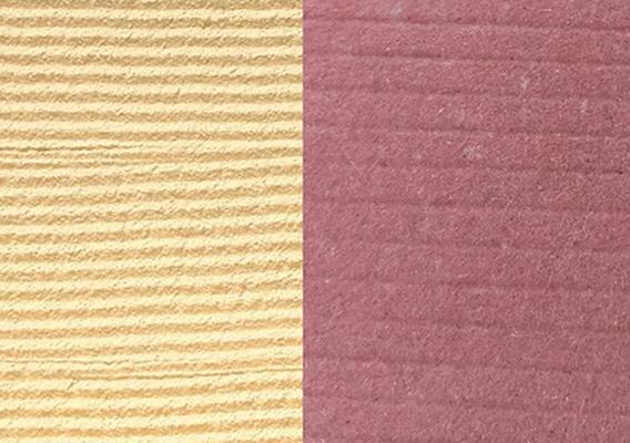 (写真3)壁の表面に櫛目を付ける技法として、櫛引き仕上げ、櫛目仕上げと言った仕上げ方法があります。 | 紙に歴史あり 「新利休」 - 平和紙業株式会社 | 活版印刷研究所