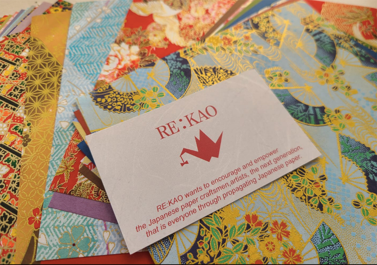 手染め友禅紙の魅力を伝えるために RE:KAO