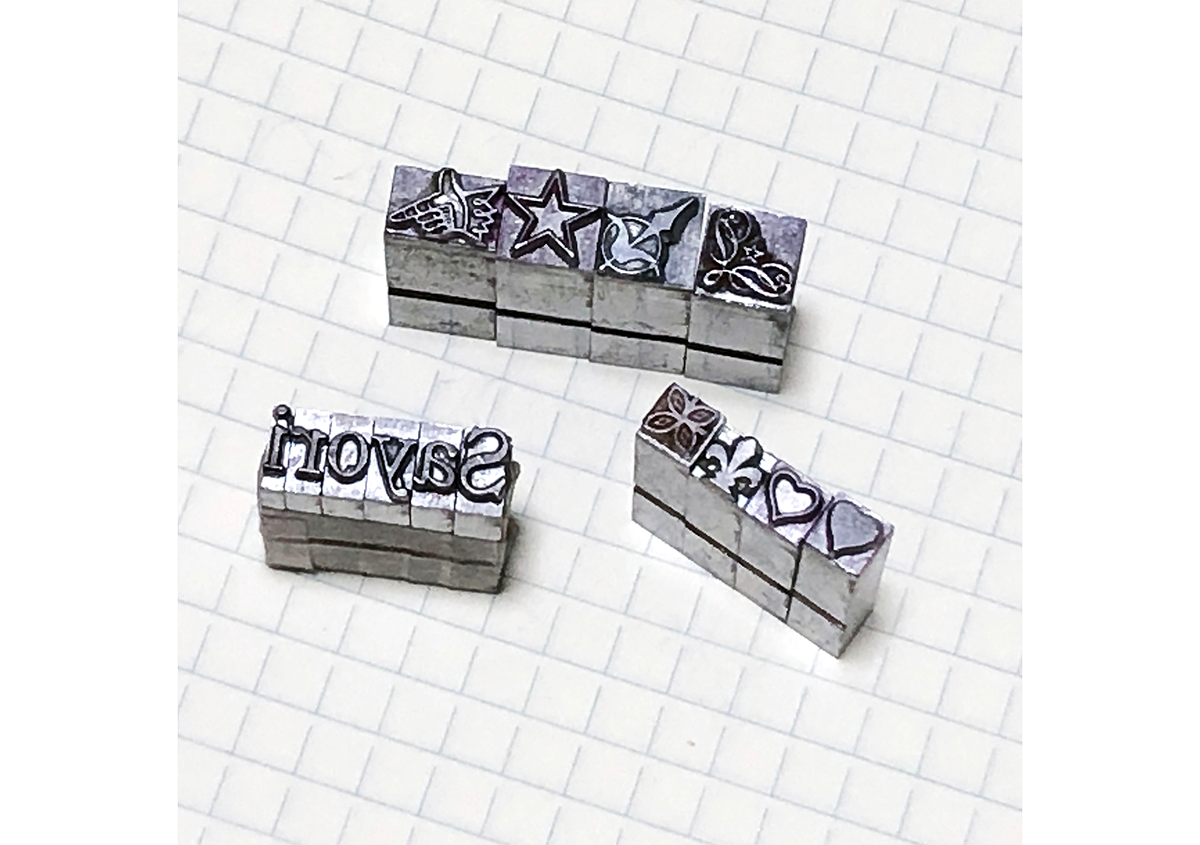 (写真9) | お家でワークショップ─金属活字を文具チックに使ってみたよ - 生田信一(ファーインク) | 活版印刷研究所