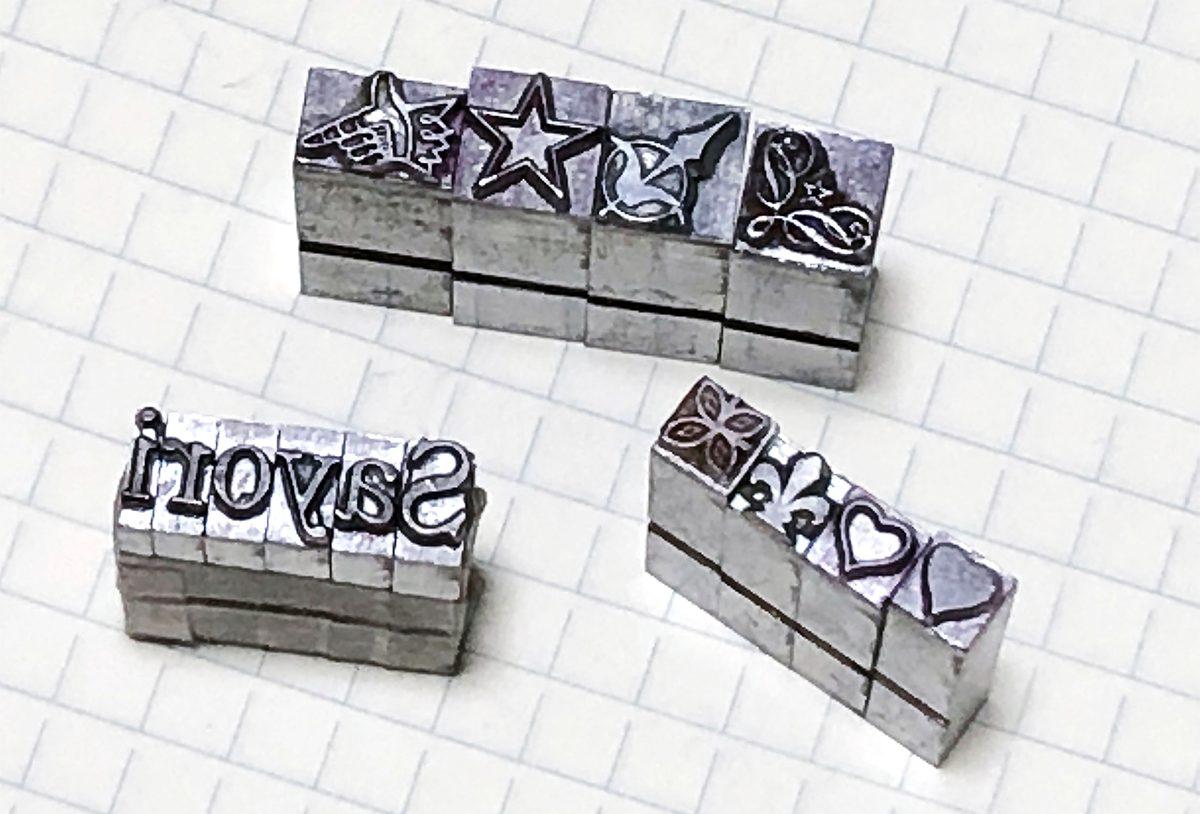 お家でワークショップ─金属活字を文具チックに使ってみたよ - 生田信一(ファーインク) | 活版印刷研究所