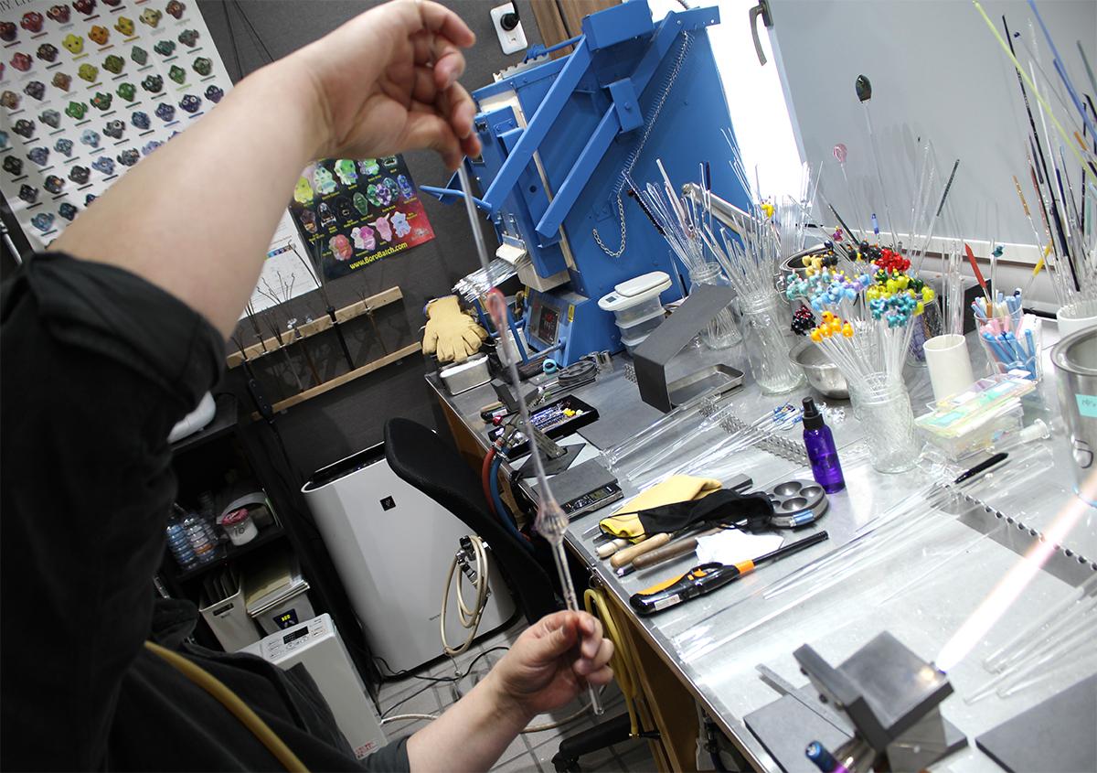 (写真11) | ガラスペンの楽しみ─HASE硝子工房を訪ねる - 生田信一(ファーインク) | 活版印刷研究所