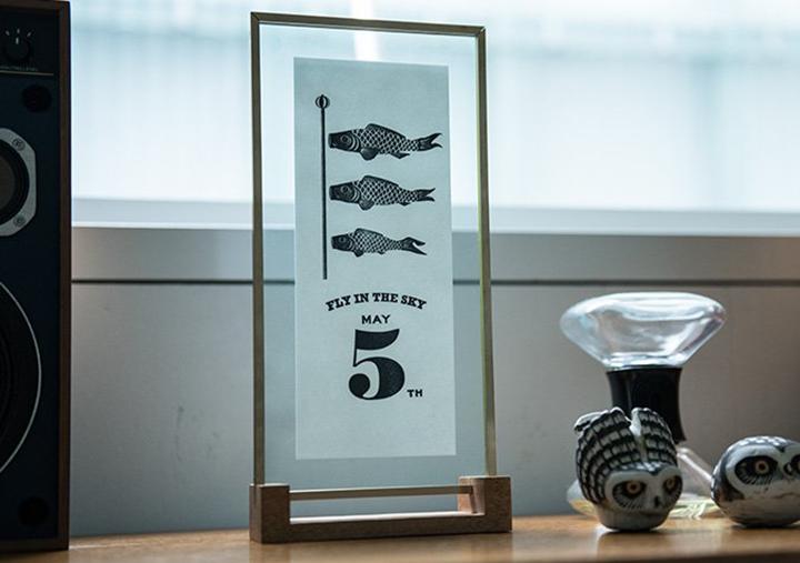 (写真4) | レタープレスポスター&フレーム─NECKTIE design office 千星健夫さんを訪ねて - 生田信一(ファーインク) | 活版印刷研究所