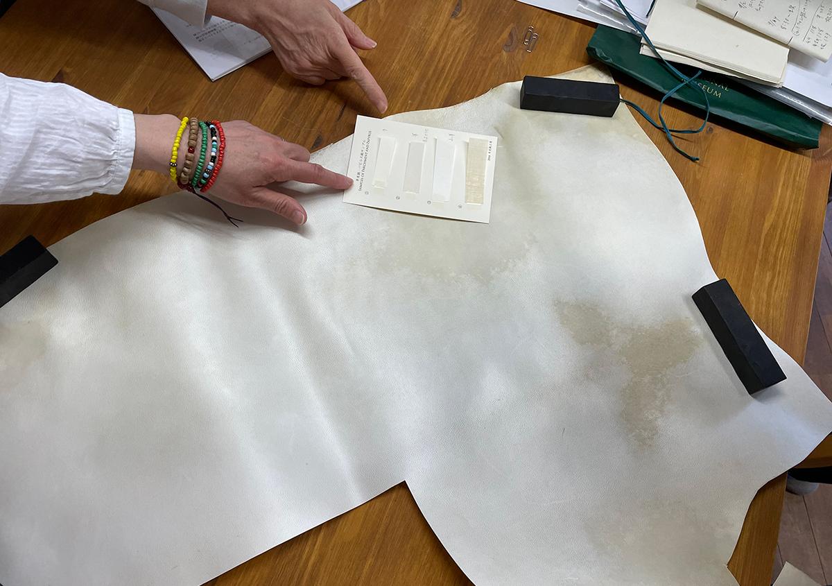 (写真1) | 羊皮紙でブックカバーを作る体験をしました。 - 京都大学図書館資料保存ワークショップ | 活版印刷研究所