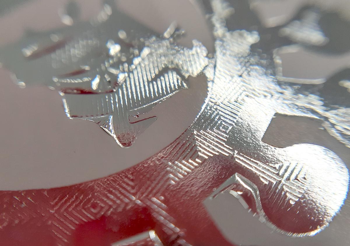 (写真2) | 鬼滅ロゴ箔押し6 - (株)和光 | 活版印刷研究所
