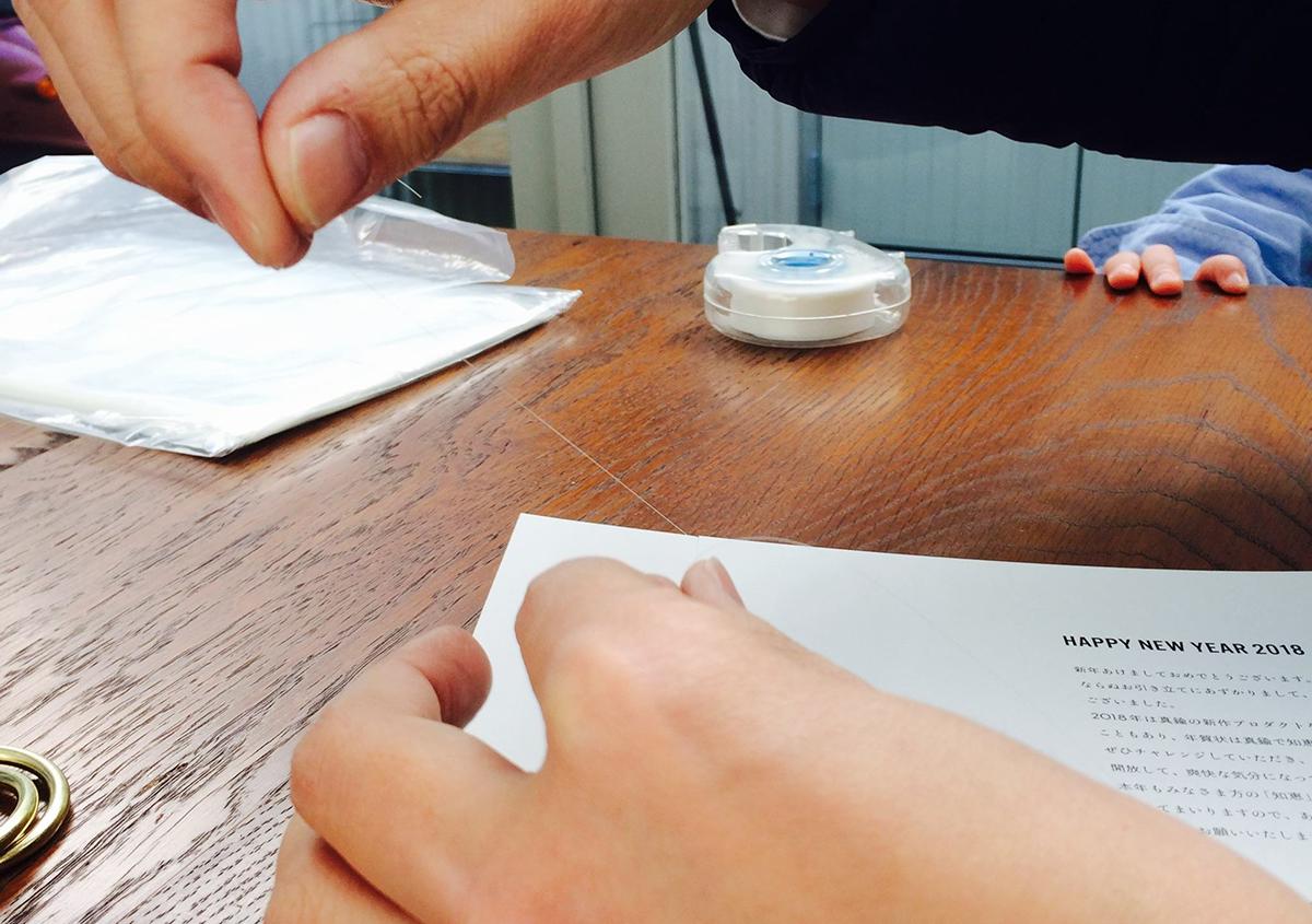 (写真28)   NECKTIE design office 千星健夫さんが作るクリエイティブな年賀状(中編) - 生田信一(ファーインク)   活版印刷研究所