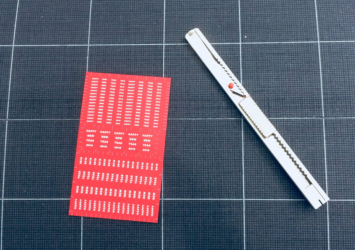 (写真35)   NECKTIE design office 千星健夫さんが作るクリエイティブな年賀状(中編) - 生田信一(ファーインク)   活版印刷研究所