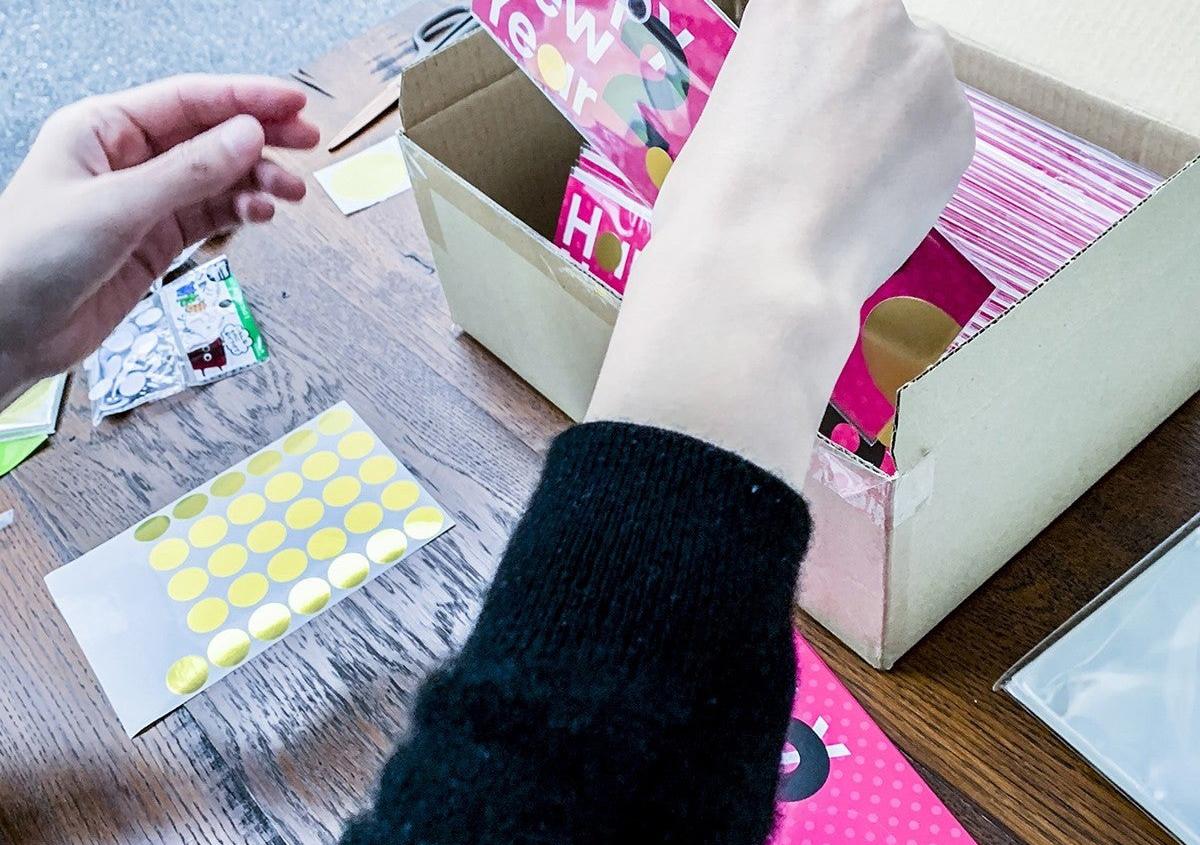 (写真14) | NECKTIE design office 千星健夫さんが作るクリエイティブな年賀状(後編) - 生田信一(ファーインク) | 活版印刷研究所